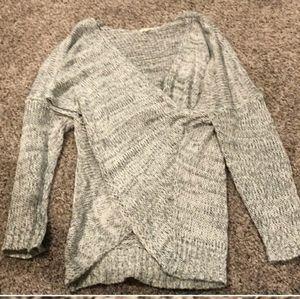 Crossover draped sweater